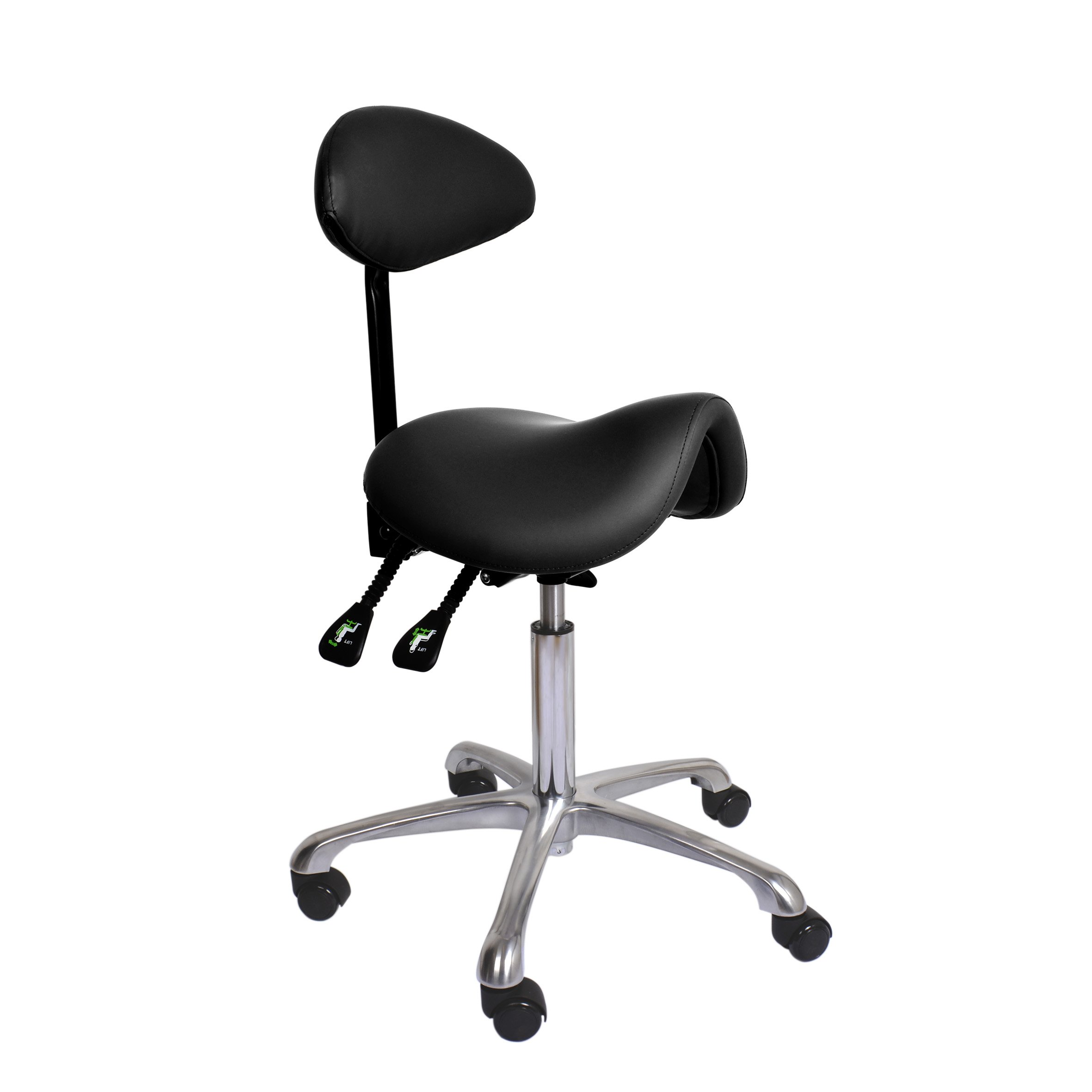 Chair with a saddle squab - black | SmartLashes.eu on